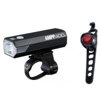 Cateye AMPP 400/ORB SL-LD160 Zestaw lampek 400Lm LED aku USB