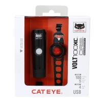 Cateye HL-EL051 VOLT100XC/ORB SL-LD160RC Zestaw lampek 100Lm LED aku USB