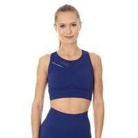 Brubeck Crop Top Gym Top damski do ćwiczeń ciemnoniebieski