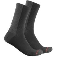 Castelli Bandito Wool 18 Skarpetki kolarskie czarne