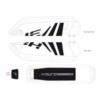 Haibike Naklejki na akumulator Bosch do XDURO czarno szare