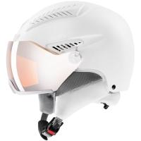 Uvex Hlmt 600 Visor Kask narciarski snowboard all white mat litemirror silver