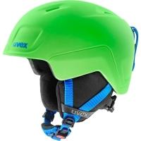Uvex Heyya Pro Dziecięcy kask narciarski snowboard green blue mat