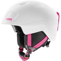 Uvex Heyya Pro Dziecięcy kask narciarski snowboard white pink mat