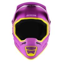 SixSixOne 661 Kask Reset purpurowo żółty