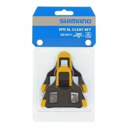 Shimano SM SH11 Bloki do pedałów szosowych SPD SL żółte