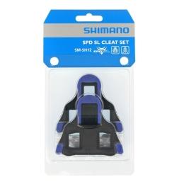 Shimano SM SH12 Bloki do pedałów szosowych SPD SL niebieskie