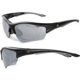 Accent Wind Okulary rowerowe czarne szara soczewka