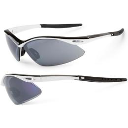 Accent Shadow Okulary sportowe biało czarne szara soczewka