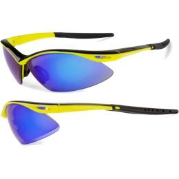 Accent Shadow Okulary sportowe żółto czarne niebieska soczewka