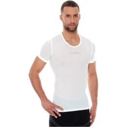 Brubeck Koszulka rowerowa termoaktywna z krótkim rękawem biała