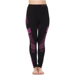 Brubeck Dry Spodnie termoaktywne damskie czarno amarantowe