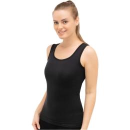 Brubeck Comfort Wool Koszulka damska bez rękawów czarna