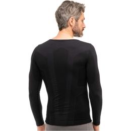 Brubeck Comfort Wool Koszulka męska z długim rękawem czarna