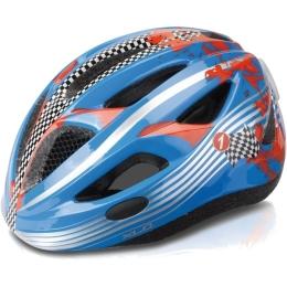 XLC BH C17 kask dziecięcy z oświetleniem LED niebieski Racer