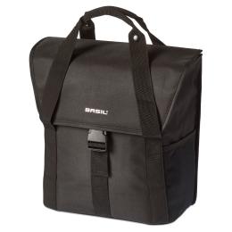 Basil Go Single Bag Sakwa rowerowa miejska wodoodporna black 16L