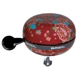 Basil Big Bell Bloom Dzwonek rowerowy 80mm scarlet red