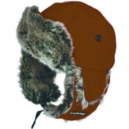 Viking Russian Hat Czapka uszatka zimowa polarowa brązowa