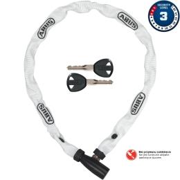 Abus 1500 Web 60cm Zapięcie do roweru łańcuch z zamkiem biały