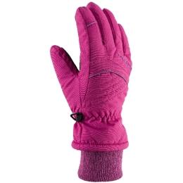 Viking Kids Rimi Rękawice narciarskie młodzieżowe różowe z fioletowym