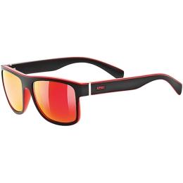 Okulary przeciwsłoneczne Uvex LGL 21 czarno czerwone