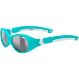 Uvex Sportstyle 510 Okulary przeciwsłoneczne dla dzieci turquoise white mat smoke