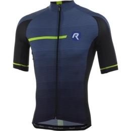 Rogelli Pendenza Koszulka rowerowa z krótkim rękawem niebiesko żółta 2019