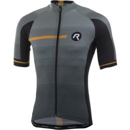 Rogelli Pendenza Koszulka rowerowa z krótkim rękawem szaro pomarańczowa 2019