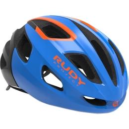Rudy Project Strym Kask szosowy Blue orange shiny