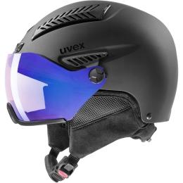 Uvex Hlmt 600 Visor Vario kask narciarski snowboard black mat litemirror blue