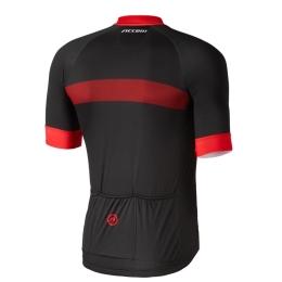 Accent Vector Koszulka kolarska męska czarno czerwona