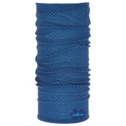 Viking Regular 8943 Komin sportowy unisex niebieski z geometrcznym wzorem