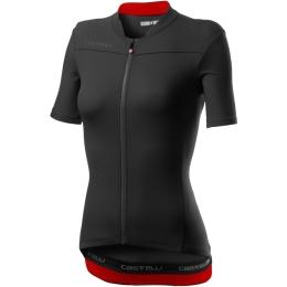 Castelli Anima 3 Koszulka rowerowa damska czarno czerwona