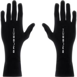 Brubeck rękawiczki termoaktywne uniwersalne merino czarne