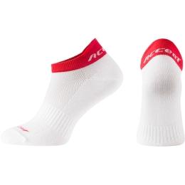 Accent Logo Skarpetki biało czerwone