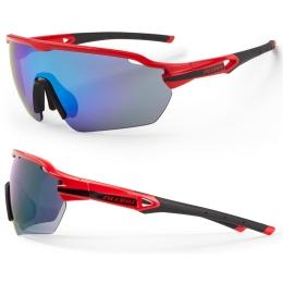 Accent Reflex Okulary czerwono czarne niebieskie soczewki PC