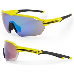 Accent Reflex Okulary żółte fluo niebiesko zielone soczewki PC