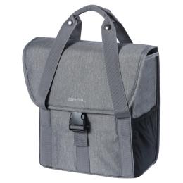 Basil Go Single Bag Sakwa na bagażnik szara