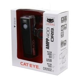 Cateye AMPP 400 ORB SL LD160 Zestaw lampek