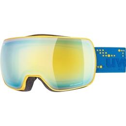 Gogle narciarskie Uvex Compact FM niebiesko żółte