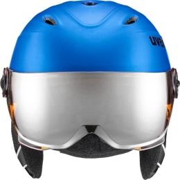 Kask narciarski snowboardowy Uvex Junior Visor Pro niebieski