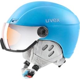 Kask narciarski Uvex Hlmt 400 Visor Style jasnoniebieski