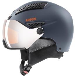 Kask narciarski snowboardowy Uvex Hlmt 600 Visor niebieski