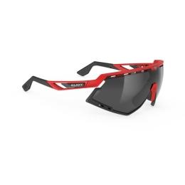Rudy Project Defender Okulary Czarno Czerwone