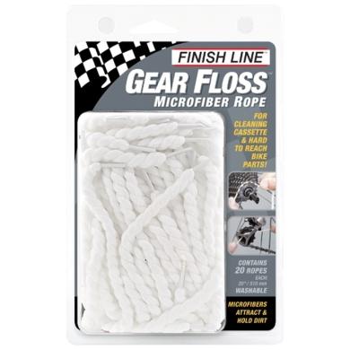 Finish Line Gear Floss Czyściki z mikrofibry do kasety 20szt