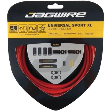 Jagwire Universal Sport XL Zestaw linek i pancerzy hamulca MTB Szosa czerwony