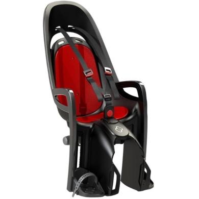 Fotelik dziecięcy Hamax Zenith czarno czerwony + adapter na bagażnik