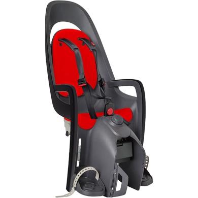 Fotelik dziecięcy Hamax Caress szaro czerwony + adapter na bagażnik