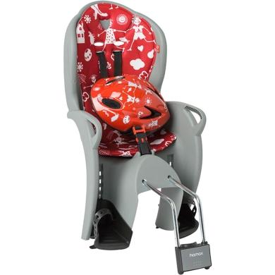 Hamax Kiss Fotelik dziecięcy szaro czerwony + kask