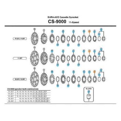 Shimano Koronka kasety Dura Ace CS 9000 do kaset 12-25/12-28